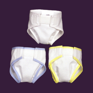 "Blue Trim Diaper Fits dolls with an 8 ½"" to 13"" waist and most dolls  12"" - 18"" tall."
