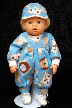 "Blue Puppy Jumper fits 12"" - 14"" dolls such as the Lee Middleton Newborn Wonder Doll"