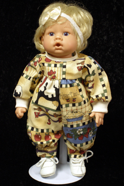 "Girls Heartland Jumper fits 12"" - 14"" dolls such as the Lee Middleton Newborn Wonder Doll"