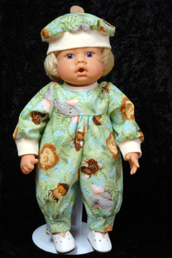 "Jungle Animal Jumper fits 12"" - 14"" dolls such as the Lee Middleton Newborn Wonder Doll"