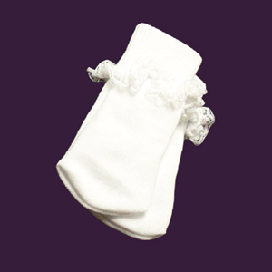 "White Lace Trim Socks to fit 12"" - 14"" Dolls."